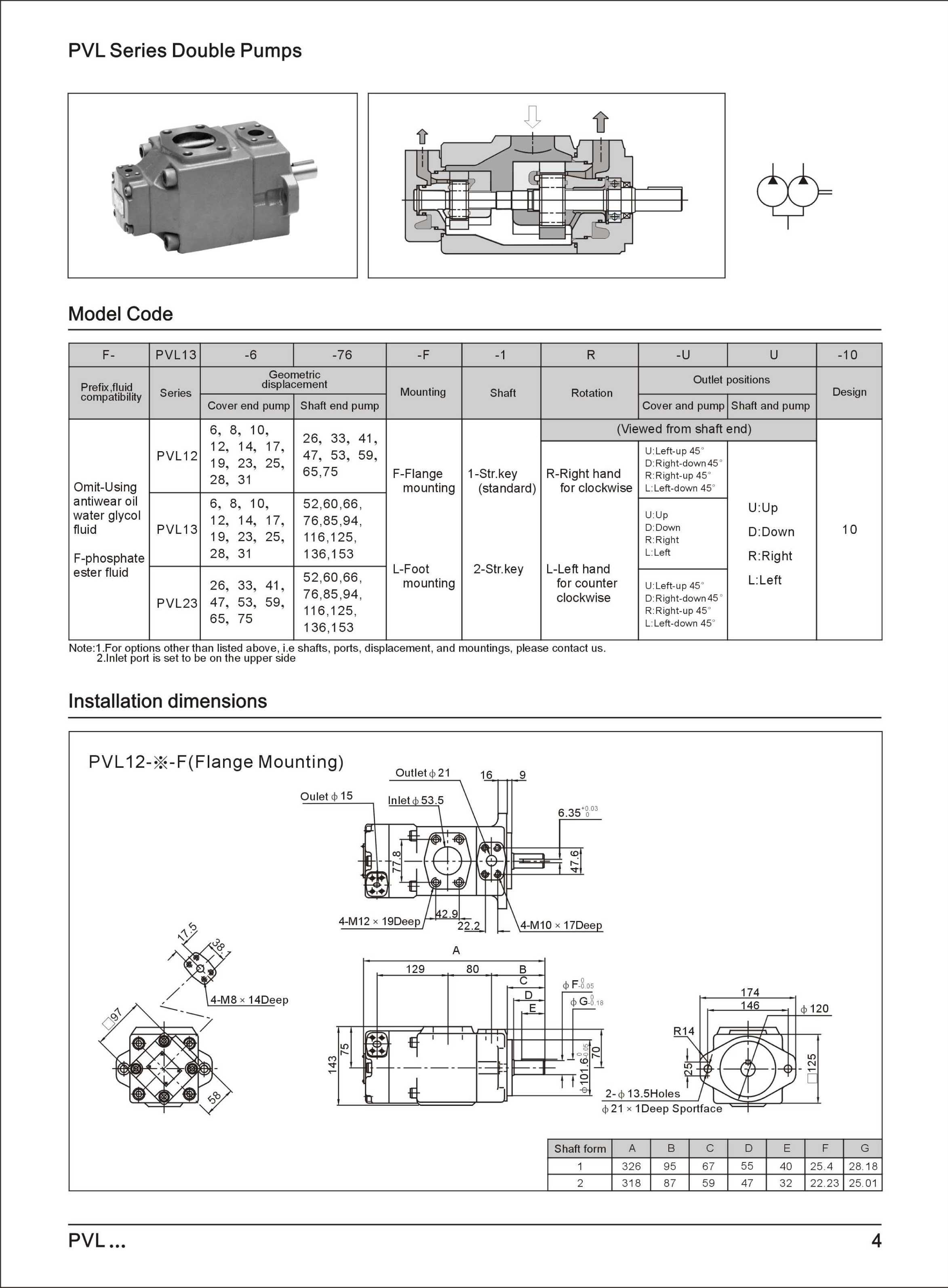 Pvl Series Vane Pump Pioneer Fluid Power Co Ltd Diagram